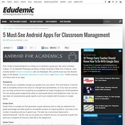 5 Must-See Android Apps For Classroom Management