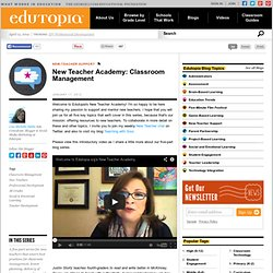 New Teacher Academy: Classroom Management