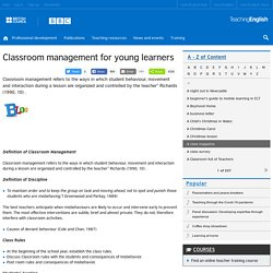 Classroom management for young learners
