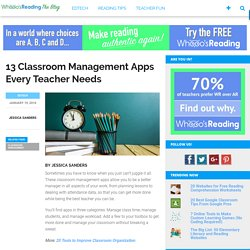 13 Classroom Management Apps Every Teacher Needs