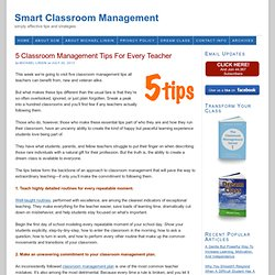 5 Classroom Management Tips For Every Teacher