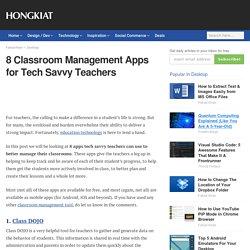 8 Classroom Management Apps for Tech Savvy Teachers