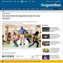 Six classroom management tips for new teachers