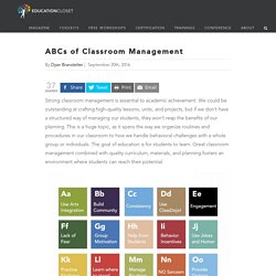 The ABCs of Classroom Management: A Tool for Teachers