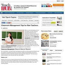 Classroom Management Tips for New Teachers