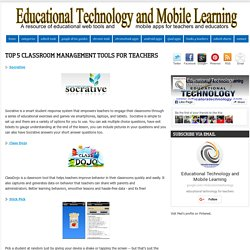Educational Technology and Mobile Learning: Top 5 Classroom Management Tools ...