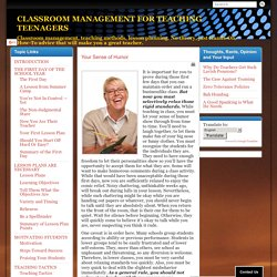 CLASSROOM MANAGEMENT FOR TEACHING TEENAGERS