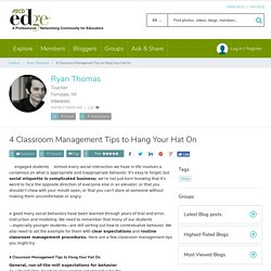 4 Classroom Management Tips to Hang Your Hat On