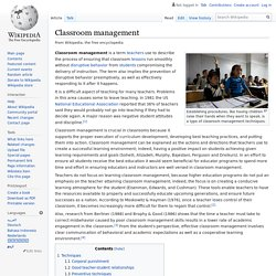 Classroom management - Wikipedia