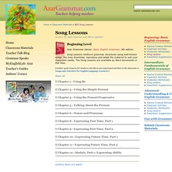 Classroom Materials » BEG Song Lessons