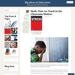 Math: How we Teach in the Classroom Matters