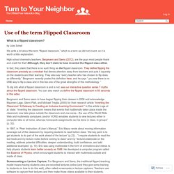 Use of the term Flipped Classroom – Turn to Your Neighbor: The Official Peer Instruction Blog