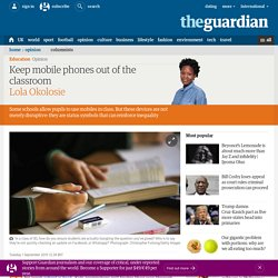 Keep mobile phones out of the classroom