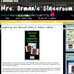 Del.icio.us Library 2 to organize classroom library - Tracee Orman