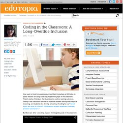 Coding in the Classroom: A Long-Overdue Inclusion