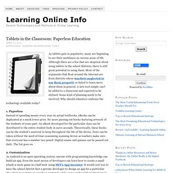 Tablets in the Classroom: Paperless Education