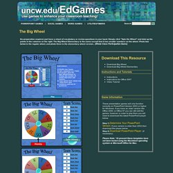 Classroom PowerPoint Games and Resources from uncw.edu/EdGames