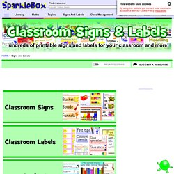 Classroom Signs and Labels Printables for Primary Schools