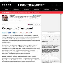 Occupy the Classroom? - Dani Rodrik