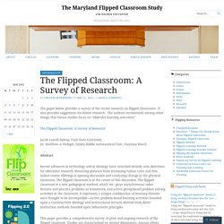 The Flipped Classroom: A Survey of Research