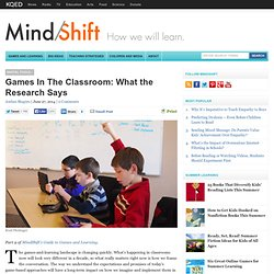 Games In The Classroom: What the Research Says