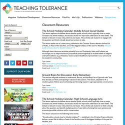 Teaching Tolerance: Classroom Resources