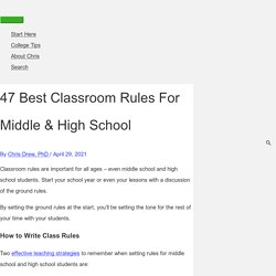 47 Best Classroom Rules for Middle & High School (2021)