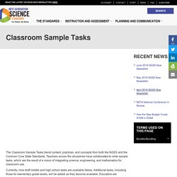 Classroom Sample Tasks