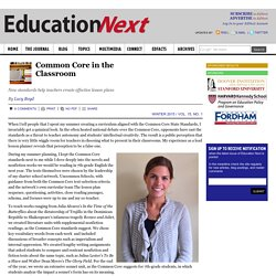 Common Core in the Classroom: New standards help teachers create effective lesson plans