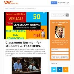 Classroom Norms - for students & TEACHERS. - Sara VanDerWerf
