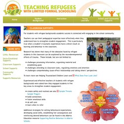 Teaching Refugees with Limited Formal Schooling