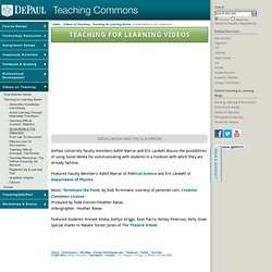 Social Media in the Classroom - Teaching Commons