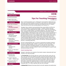 Tips For Teaching Teenagers