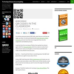 QR Codes: In the Classroom