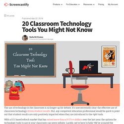 20 Classroom Technology Tools You Might Not Know