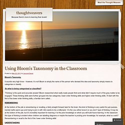 Using Bloom's Taxonomy in the Classroom