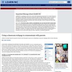 Using a classroom webpage to communicate with parents