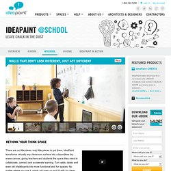 Gallery and Case Studies :: Dry Erase Surfaces @ School | IdeaPaint