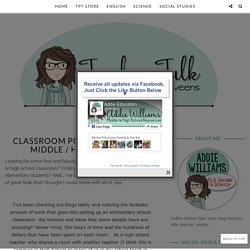 Classroom Poster Ideas for Middle / High School - Addie Williams - Teacher Talk