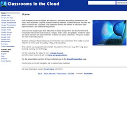 Home (Classrooms in the Cloud)
