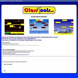 Classtools.net Arcade Game Generator