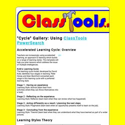 Create interactive flash cycle tools / games for education