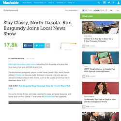 Stay Classy, North Dakota: Ron Burgundy Joins Local News Show