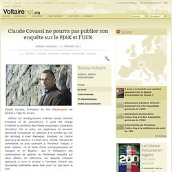 Claude Covassi ex-officier RG suisses