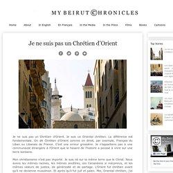 CLAUDE EL KHAL: Je ne suis pas un Chrétien d'Orient