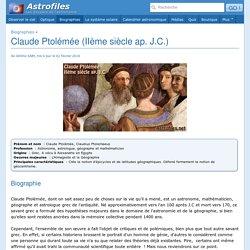 Claude Ptolémée (IIème siècle ap. J.C.)