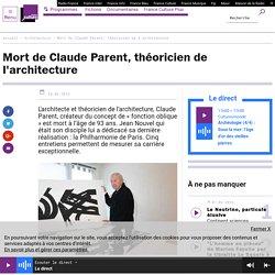Mort de Claude Parent, théoricien de l'architecture