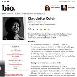 Claudette Colvin Biography