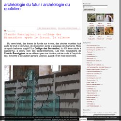 Claudio Parmiggiani au collège des Bernardins: après le fracas, le silence