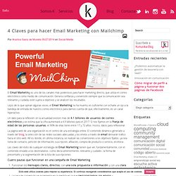 4 Claves para hacer Email Marketing con Mailchimp